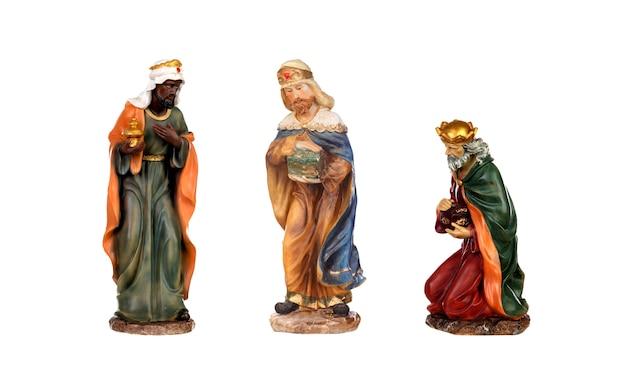 Crèche isolée ; les trois hommes sages