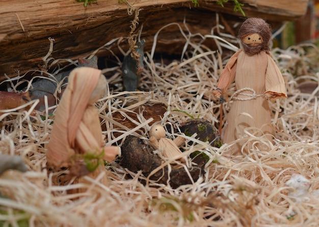 Crèche de noël avec joseph marie et jésus