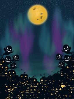 Creepy nuit helloween illustration wallpaper