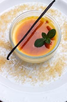 Crème brulée française