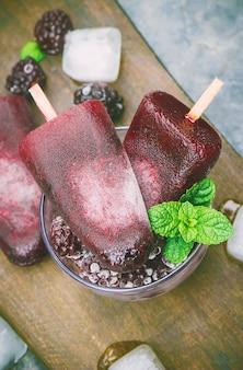Crème glacée blackberry