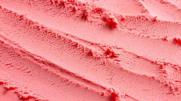 Crème glacée monochrome vue de dessus