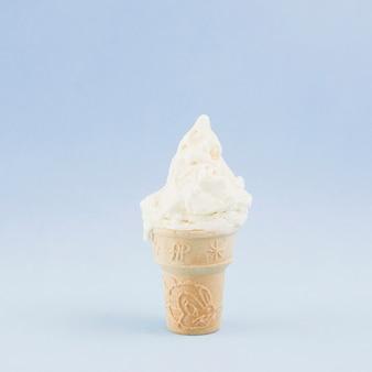 Crème glacée vue de face