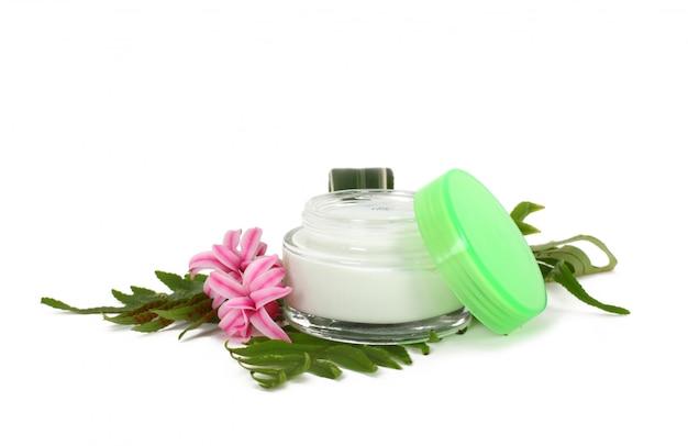 Crème pour le visage aux feuilles vertes