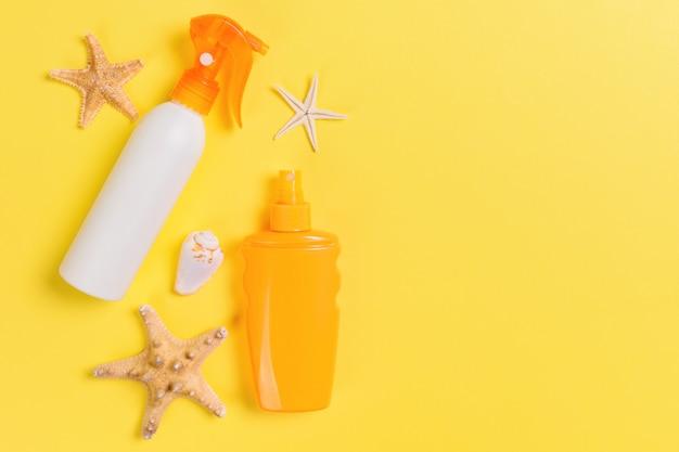Crème solaire aux étoiles de mer et coquillages