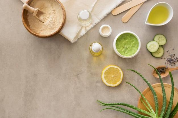 Crèmes pour la peau à plat