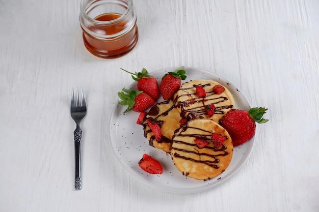 Crêpe au chocolat et fraise