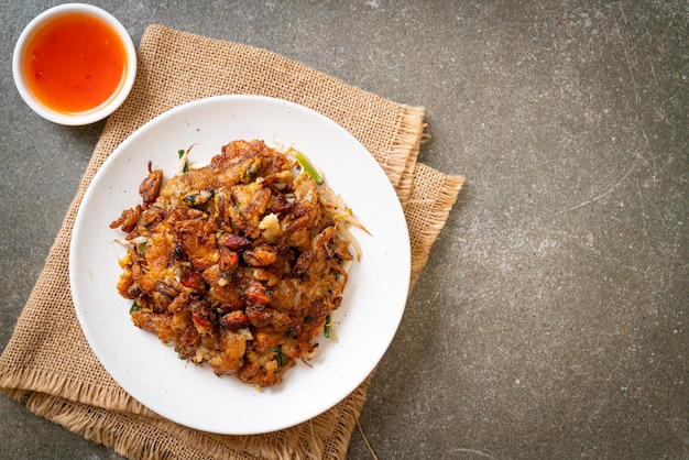 Crêpe croustillante aux moules frites ou omellette aux moules