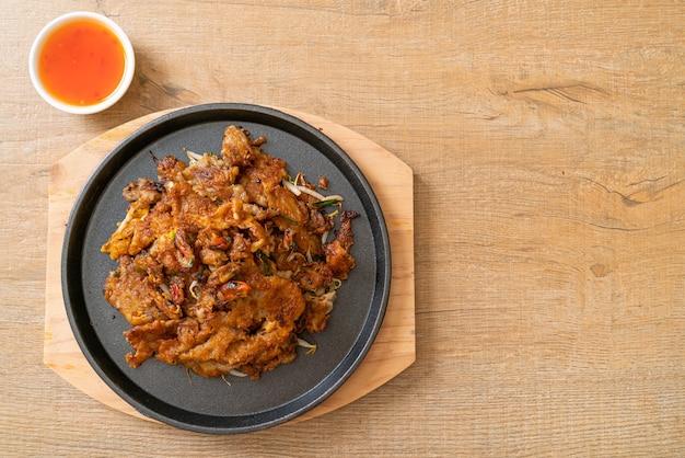 Crêpe croustillante aux moules frites