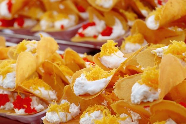 Crêpe croustillante thaïlandaise - crêpes à la crème