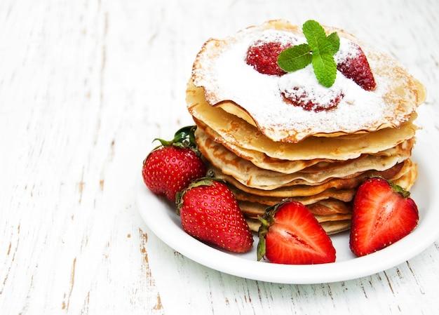 Crêpes aux fraises