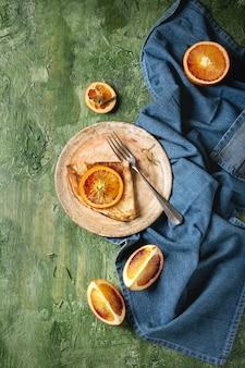 Crêpes aux oranges sanglantes