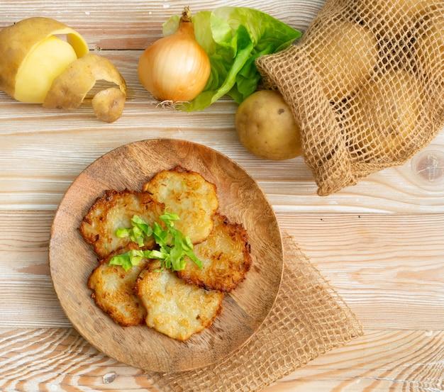 Crêpes de pommes de terre ou latkes