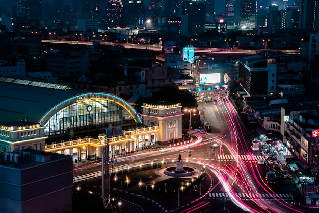 Crépuscule à bangkok, thaïlande
