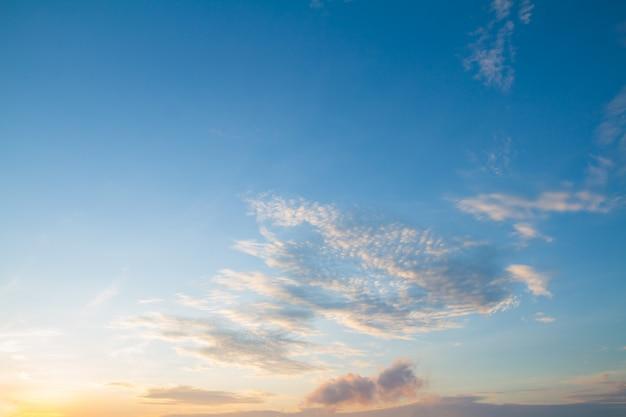 Crépuscule ciel et nuages