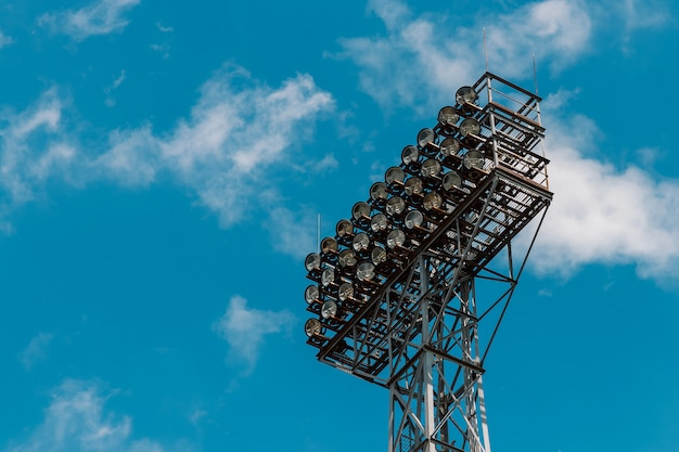Le crépuscule du stade.