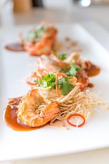 Crevette à la sauce au tamarin