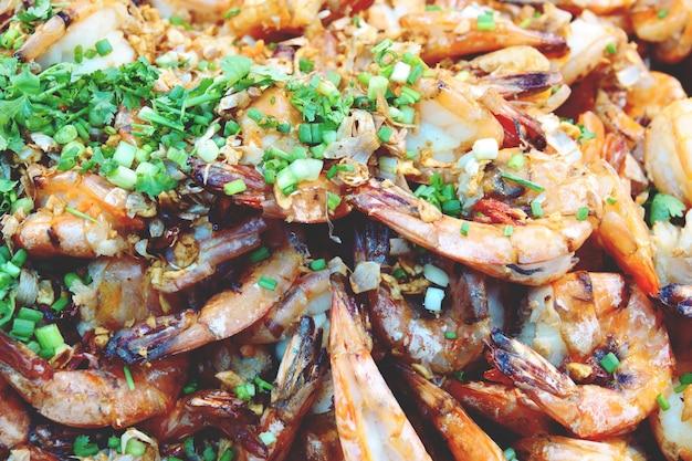 Crevette tigrée à l'ail, cuisine thaïlandaise