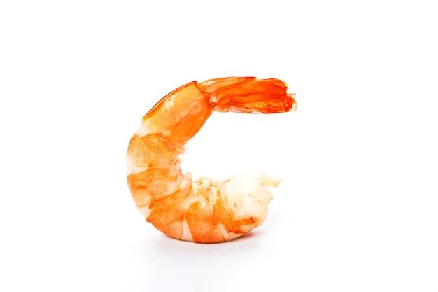 Crevettes sur blanc