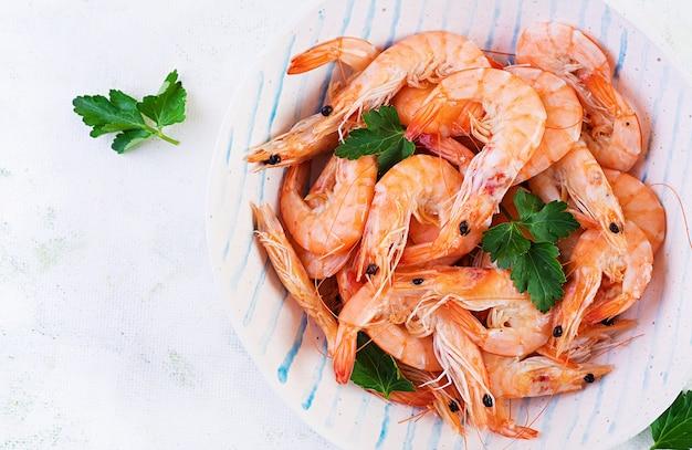 Crevettes sur bol