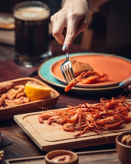 Crevettes bouillies