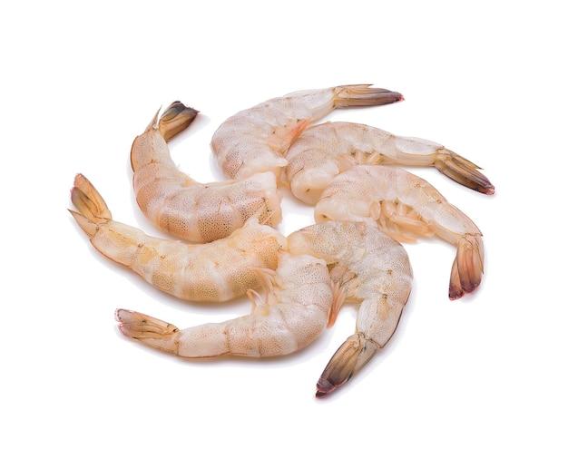 Crevettes crues isolées