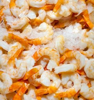 Crevettes fraîches épluchées