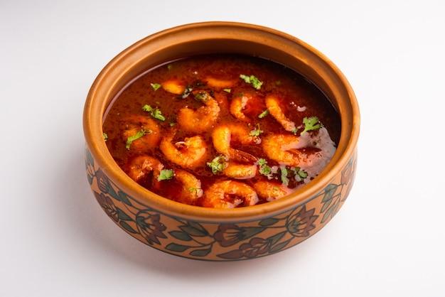 Crevettes de goan ou curry de crevettes ou zinga masala également connu sous le nom de kolambiã'â kalwanã'â ou tikhle