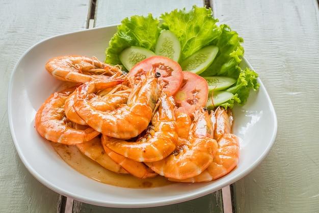 Crevettes salées ou crevettes au four
