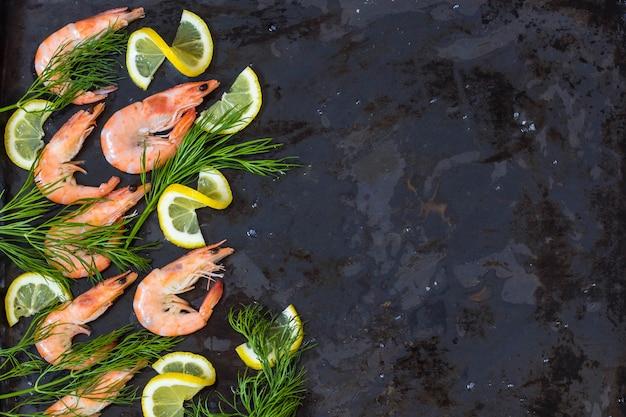 Crevettes surgelées au citron et aux épices