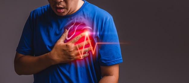 Crise cardiaque, concept de maladie cardiaque avec soins de santé et médecine.