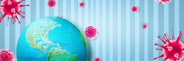 Crise du virus corona dans le monde. illustration 3d