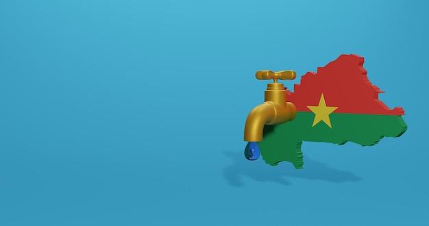 Crise de l'eau et saison sèche au burkina faso pour des infographies en rendu 3d