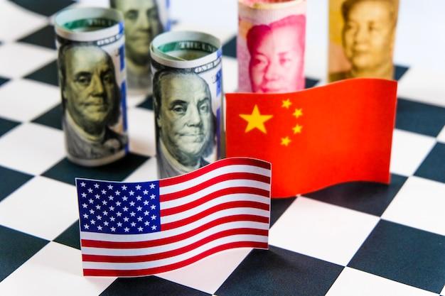 Crise de guerre commerciale entre l'amérique et la chine entre le plus grand pays économique du monde.