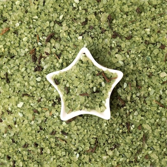 Cristaux verts de sel de mer