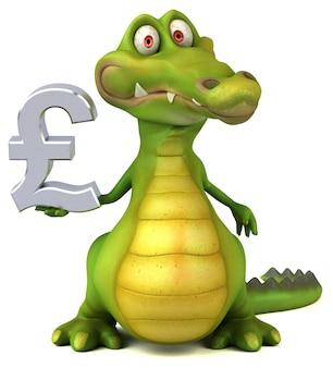 Crocodile amusant - illustration 3d