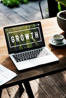 Croissance développement croissance amélioration succès
