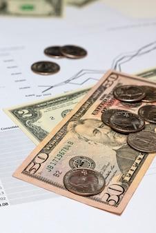 Croissance du revenu des investisseurs flèche vers le haut sur le graphique rapport d'investissement rapport financier trimestriel prin...
