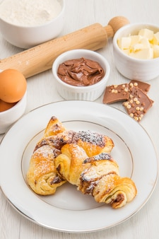 Croissant au chocolat fait maison