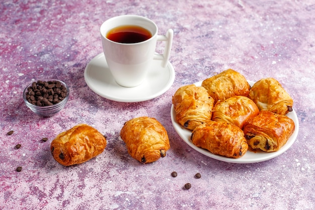 Croissants Français Pain Au Chocolat. Photo gratuit