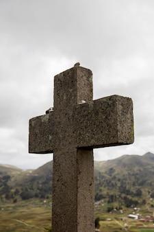 Croix au cerro calvario à copacabana, bolivie