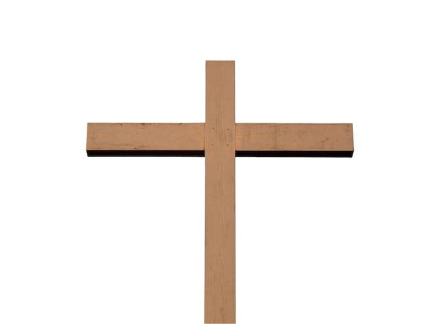 Croix en bois isolée