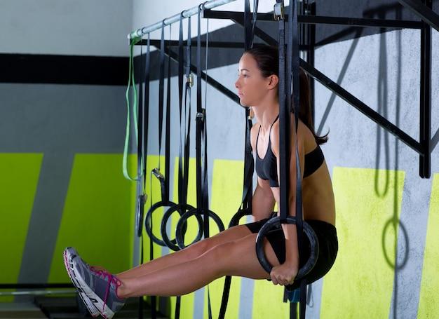 Crossfit dip ring workout au gymnase