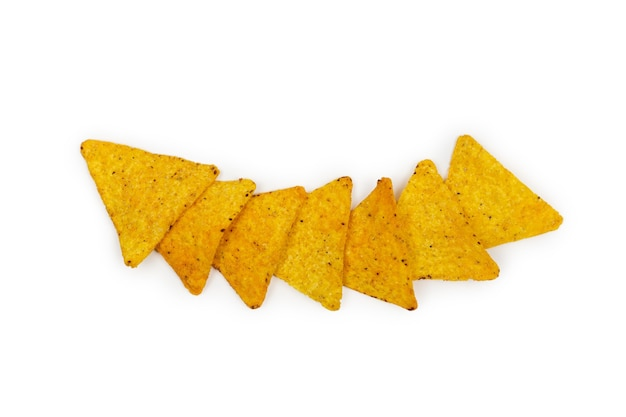 Croustilles de tortillas de maïs nachos.