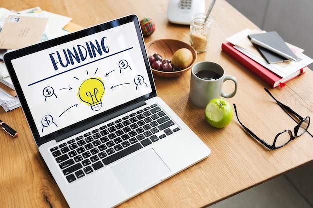 Crowd funding financement donner de l'aide concept à but non lucratif