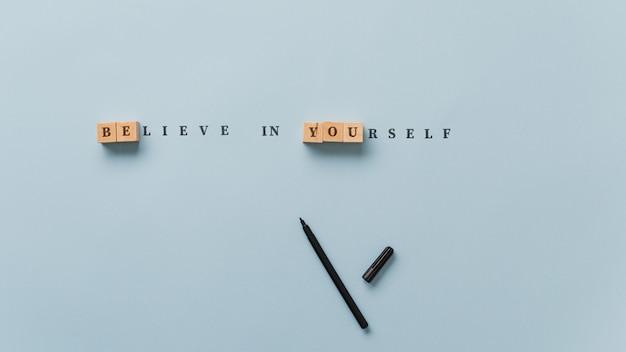 Croyez en vous-même signe