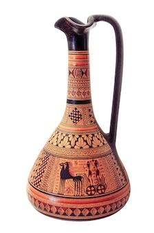 Cruche en céramique avec motif dans le style ancien