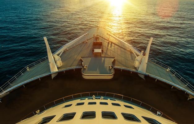 Cruise ship ocean crossing