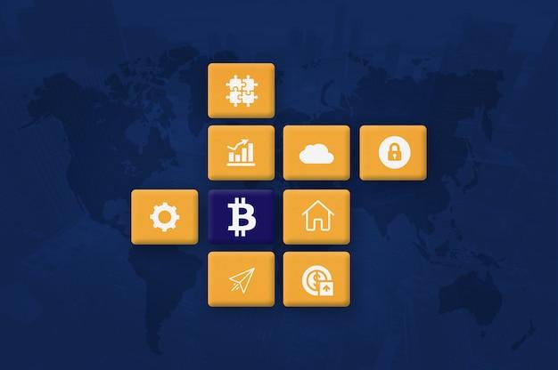 Crypto-monnaie bitcoin block chain mining photo