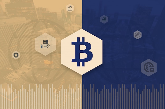 Crypto-monnaie bitcoin block chain process photo